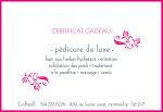Certificat Cadeau Pedicure Luxe