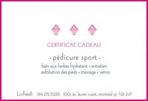 Certificat Cadeau Pédicure Sport