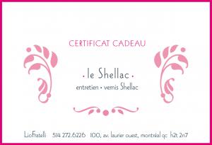 Certificat Cadeau Le Shellac