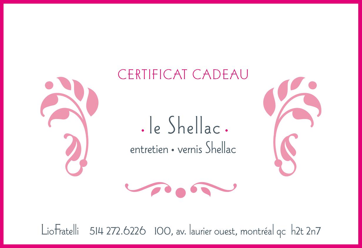 Certificat Cadeau Shellac