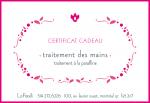 Certificat Cadeau Traitement Mains